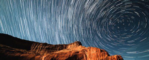 Star track long exposure